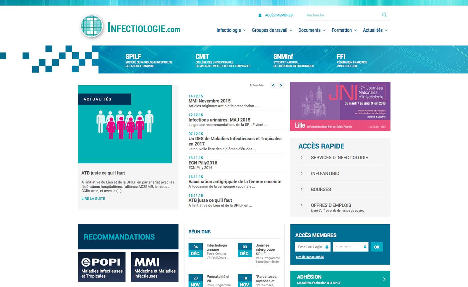 Création site vitrine Paris - Agence web | Infectiologie